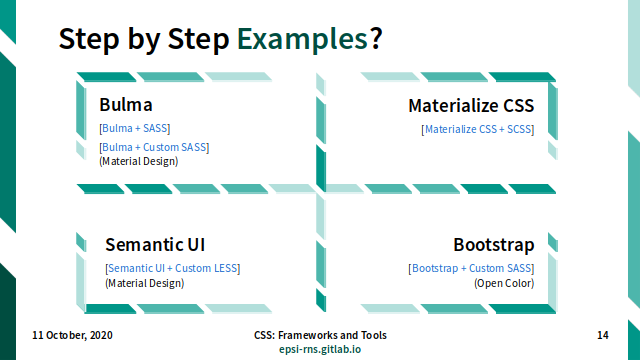 Slide - CSS Frameworks: Step by Step Examples