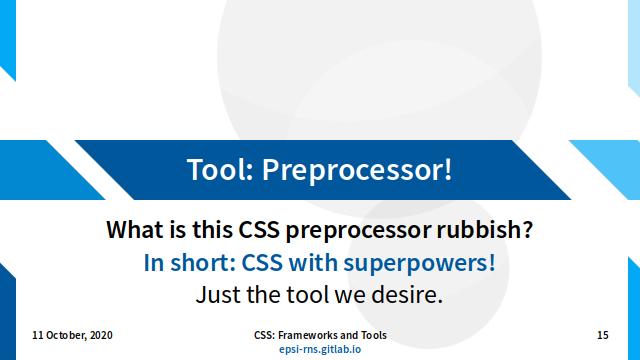 Slide - CSS Preprocessor