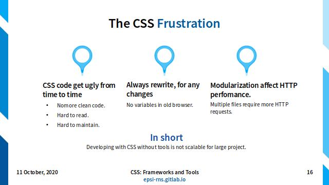 Slide - CSS Preprocessor: The CSS Frustration