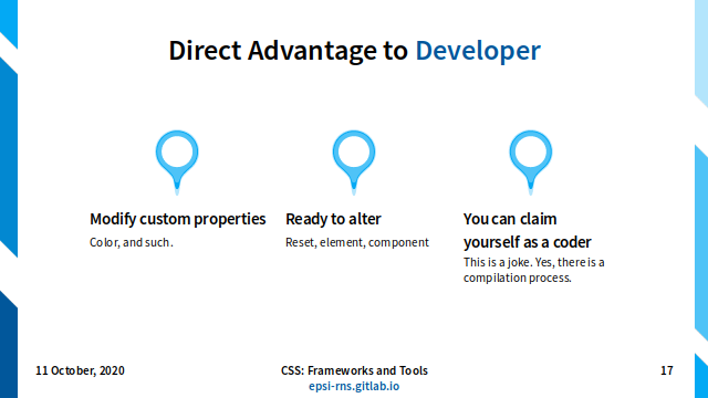 Slide - CSS Preprocessor: Direct Advantage