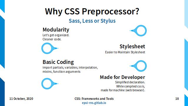 Slide - CSS Preprocessor: Why CSS Preprocessor