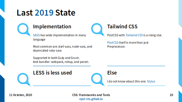 Slide - CSS Preprocessor: Current 2019 State