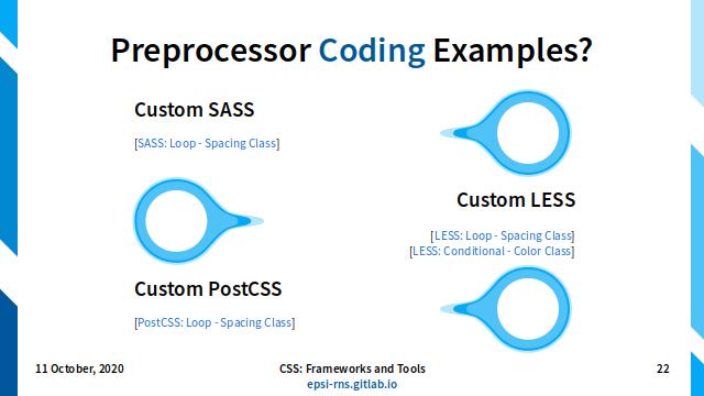 Slide - CSS Preprocessor: Examples