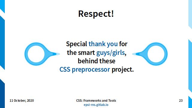 Slide - CSS Preprocessor: Respect