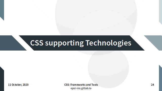 Slide - Supporting Technologies