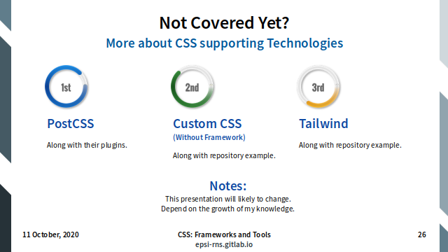 Slide - Technologies: Not Covered Yet