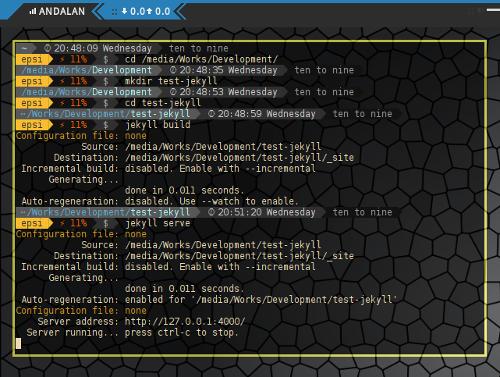 Jekyll Build on Empty Directory
