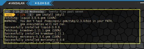 Installing Jekyll per User Using Gem