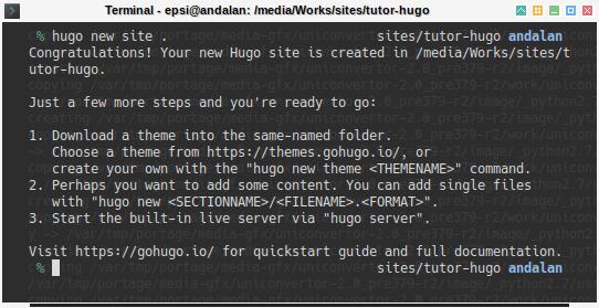 Hugo: New Site