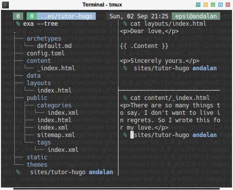 Hugo: Tree to compare directory