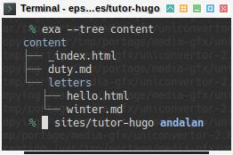 Hugo: Tree Content
