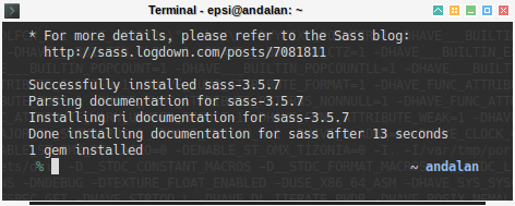 Hugo Bootstrap SASS: gem install sass