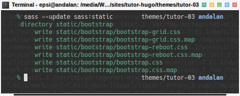Hugo Bootstrap SASS: sass update