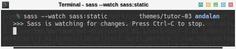 Hugo Bootstrap SASS: sass watch