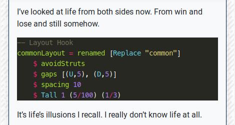 Hugo Highlight: Backtick: Haskell