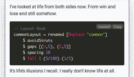 Hugo Highlight: PrismJS: Haskell
