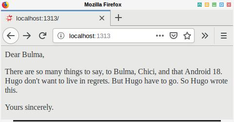 Hugo: Page on Browser