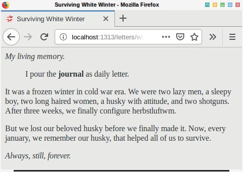 Hugo: Browser Example: Winter