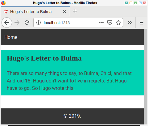 Hugo Bulma: Layout Homepage