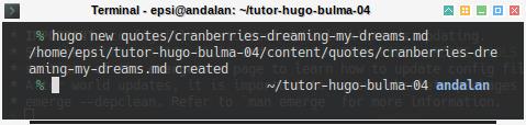 Hugo: Example Content