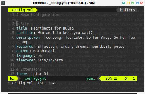 Hexo: ViM Minimalist Configuration