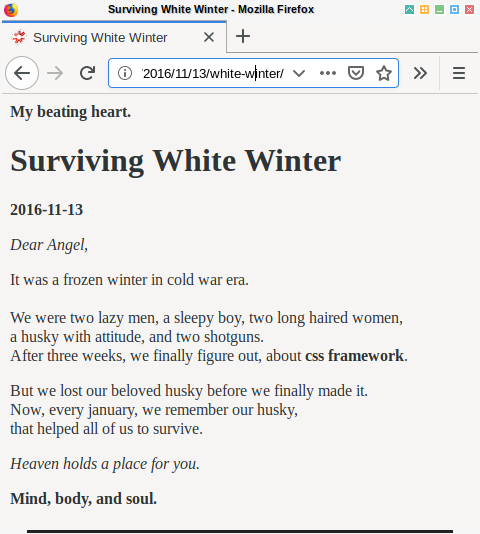 Hexo: Markdown Post Content on Browser