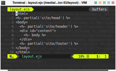 Hexo: ViM Layout