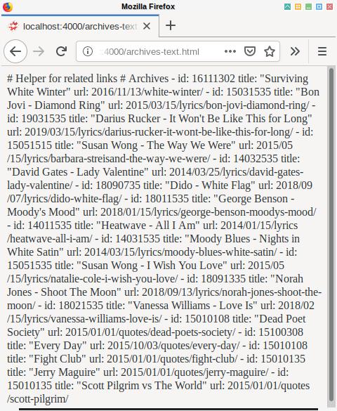 Hexo Bulma: Archives YAML Without Markup