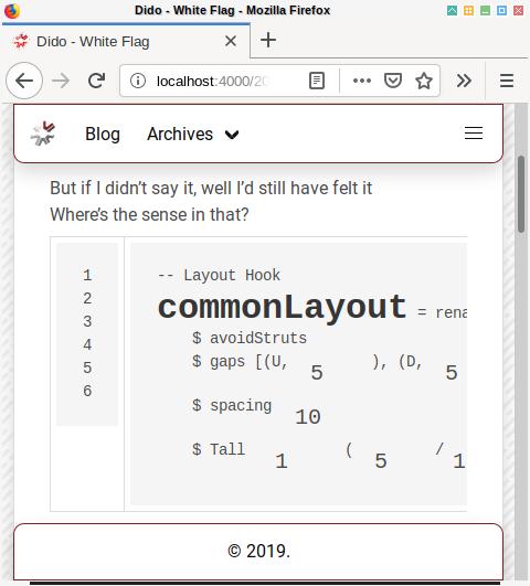 Hexo Syntax Highlighting: Formatting