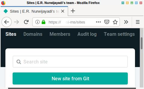 Netlify: New Site