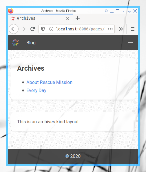 11ty: Page Content: pages/archive