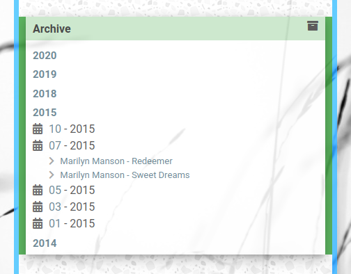 11ty: Widget: Archive Tree Grouped