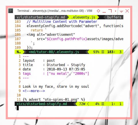 Eleventy: Markdown with Stylesheet Adjustment