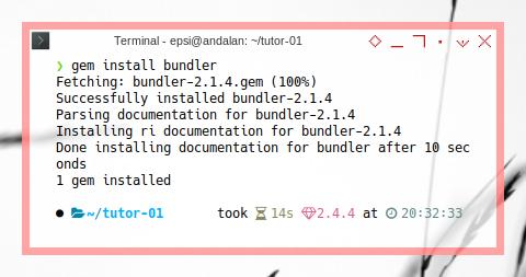 Jekyll Install: gem install bundler