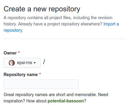 Github: create Repository