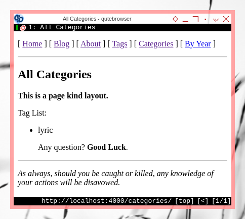 Jekyll: Cutom Pages: Tags