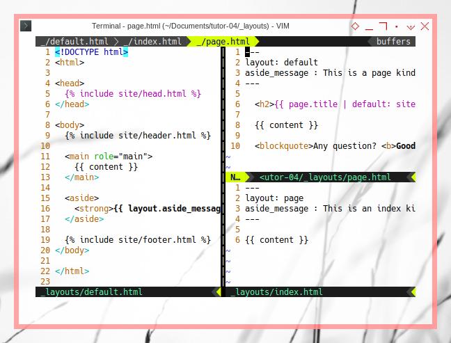 Jekyll: Managing Code: Template Inheritance: Layouts