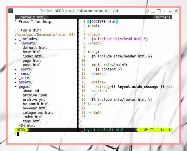 Jekyll: Managing Code: More Layout