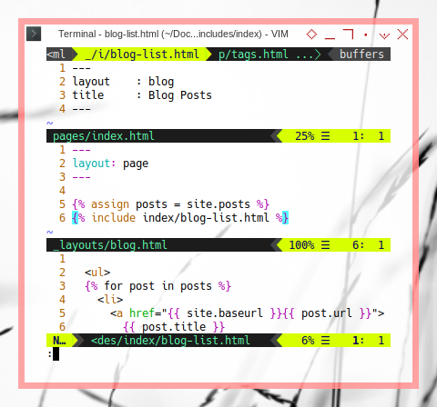 Jekyll: Code Flow: Archive in Blog List