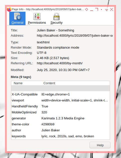 Jekyll SEO: Meta View Source