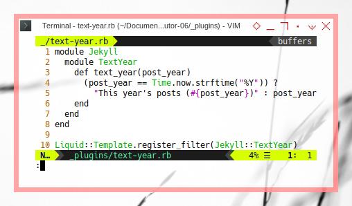 Jekyll: ViM: By Year