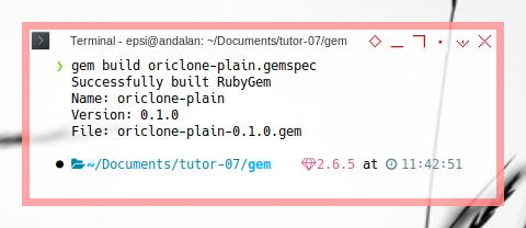 Jekyll: gem build oriclone-plain.gemspec