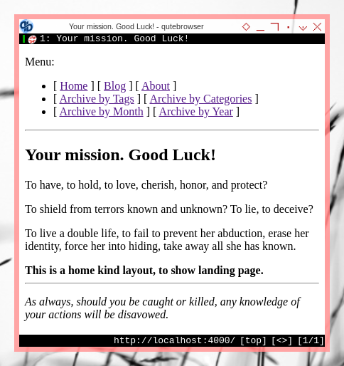 Jekyll: Qutebrowser: Home