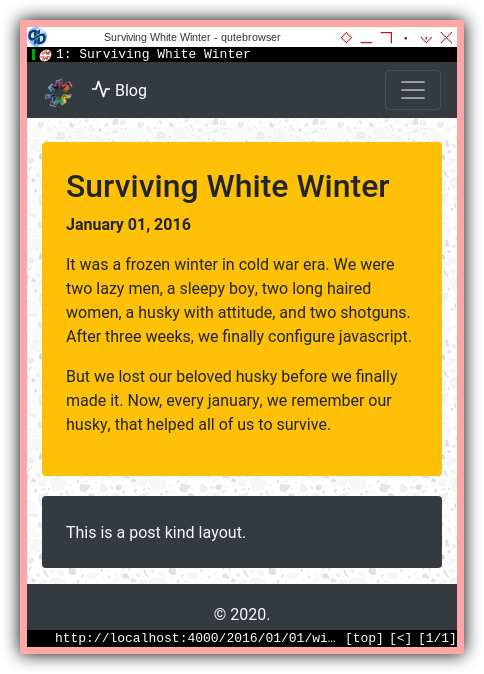 Jekyll: Post Content: _posts/winter