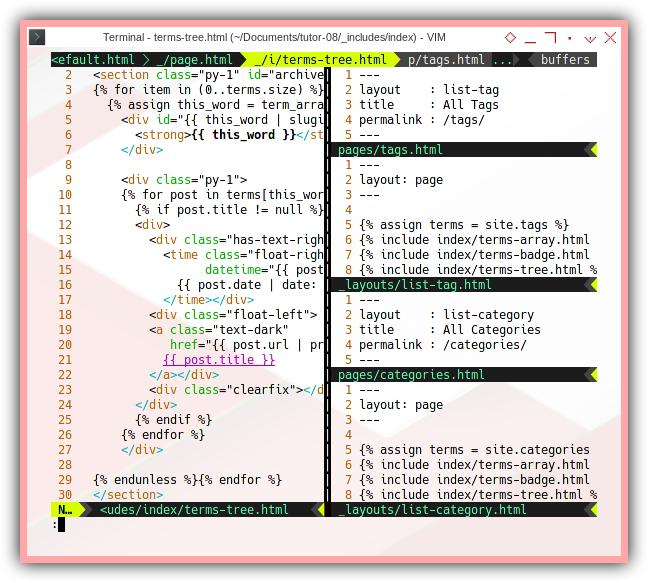 Jekyll Bootstrap: ViM Terms Tree
