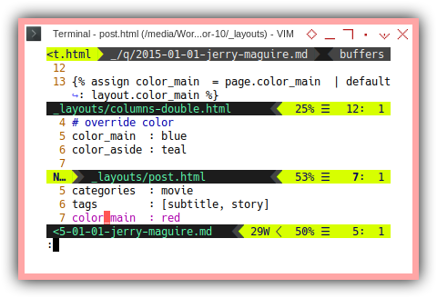 Jekyll Bootstrap: Color Property Propagation
