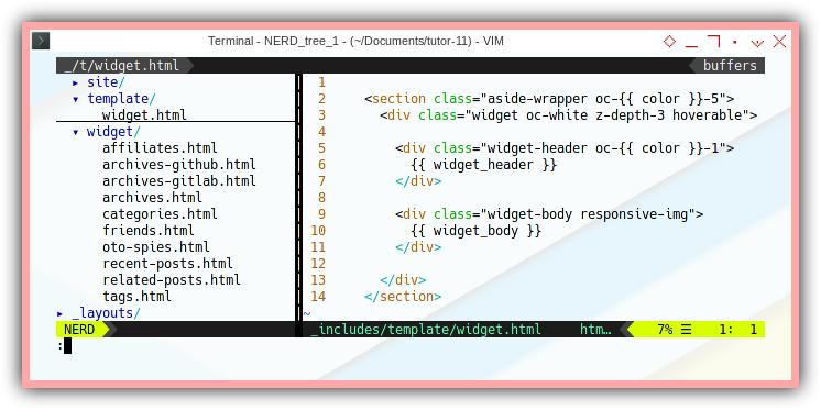 Jekyll Bootstrap: Default Widget Template