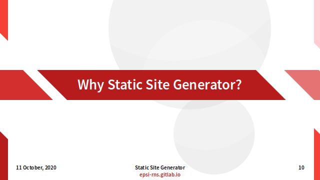 Slide - Preface: Break Why SSG?