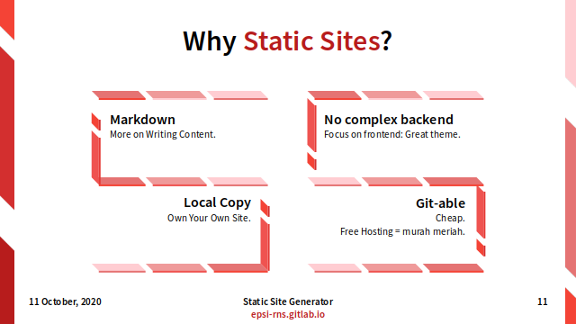 Slide - Preface: Why Static Sites