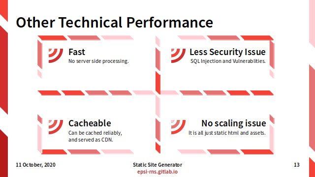 Slide - Preface: Other Technical Performance